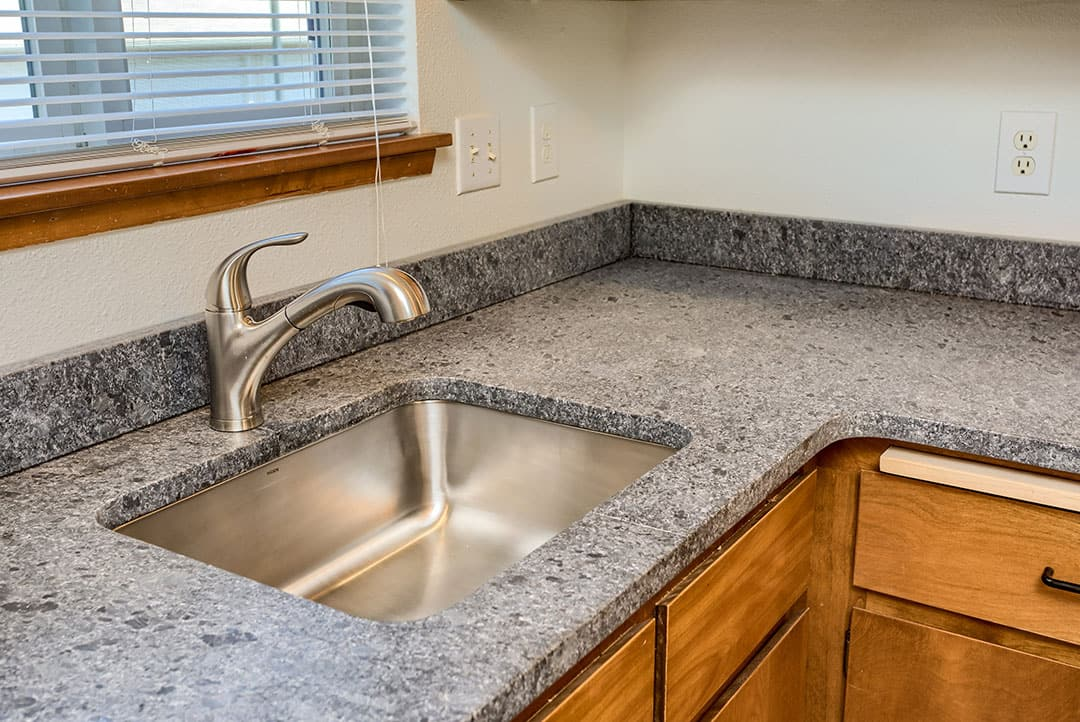 Kitchen counter and sink...